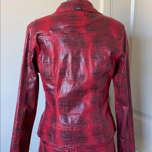 Guess Jackets & Coats - Vintage Guess Snakeskin Jacket